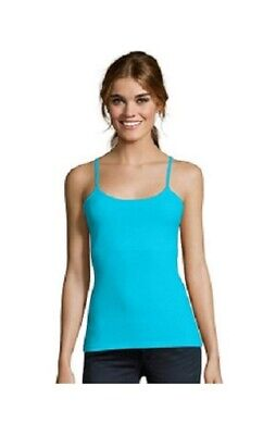 Hanes Women's Stretch Cotton Cami With Built In Shelf Bra New Xl Lg Med Sm
