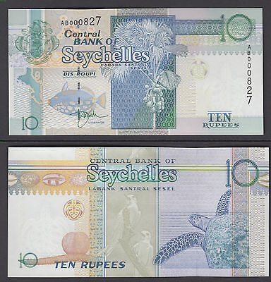 Seychelles 10 Rupees ND 1998 (UNC) CRISP Banknote Currency P-36 ###