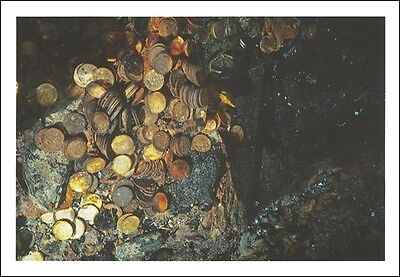 SS Central America, Tommy Thompson, Old Gold Coins, Set of Four Postcards, New!
