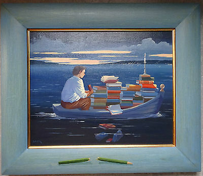 The Student by David Kirk (British Artist) original painting