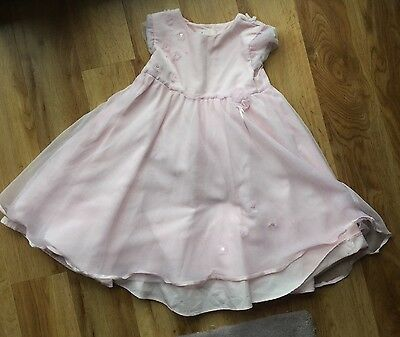 Gorgeous MAMAS and PAPAS Pale Pink Wedding/ Party Dress 12-18 months