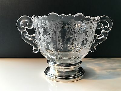 Antique Victorian Sugar Bowl Silverplate Base in Excellent Condition