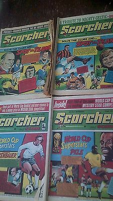 "4 x Vintage 1973 ""Scorcher and Score"" Football Comics"