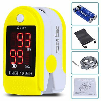 A Noza Tec Pulse Oximeter Finger Pulse Blood Oxygen Saturation Heart Rate SpO2