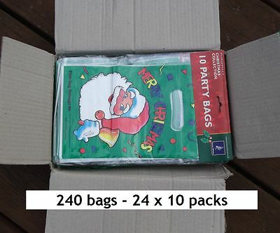 240 Christmas party goody loot bags. Wholesale joblot clearance xmas goodie pack
