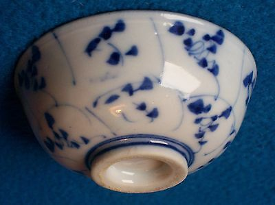 Antique Chinese Porcelain Wine Cup Kangxi  Lotus Flower Early Gc