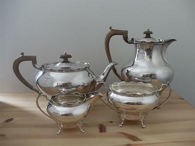 ANTIQUE SOLID SILVER TEASET TEA SET Sheffield 1937 Heavy Not Scrap 1870.7g