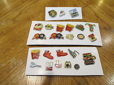 Vintage McDonald's Lot fo 24 Crew and Manager Pins!