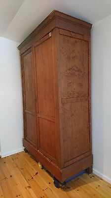 closet armoire antique pine wood made in Belgium H 2.55M