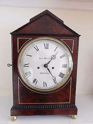 early victorian period double fusee bracket clock