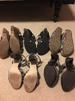 Lot of 5 Size 7.5 Shoes Sandals Chinese Laundry Unlisted BCBG Ann Taylor