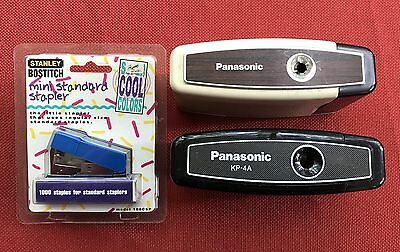2 Rare Portable Panasonic Kp-4A Electric Pencil Sharpener Battery Powered