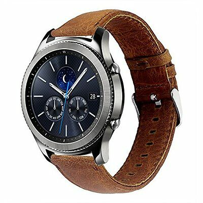 Band For Samsung Gear S3 Frontier/Classic Genuine Leather w/ Quick Release Pin