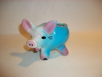 Little Pig Planter Vintage Colorful Pottery Maybe Shawnee Or Mccoy