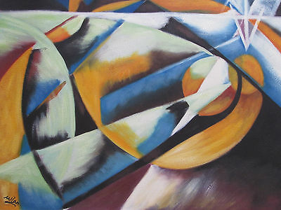 colourful abstract large oil painting canvas modern contemporary art original w