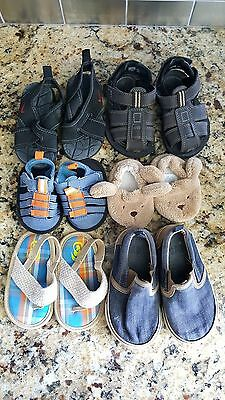 Lot of 6 Pairs Baby Toddler Shoes Crib Shoes Sandals Gap Nike Baby Size 0 to 5