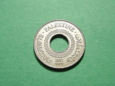 Palestine 5 Mils 1927 Gorgeous Uncirculated Condition