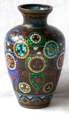 C19Th Japanese Cloisonne Vase With A Geometric Pattern