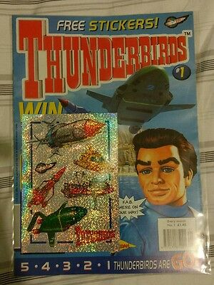 Thunderbirds #1 First Issue Free Stickers comic