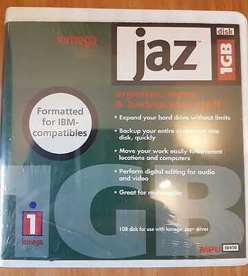1Gb Jaz Discs. 1Gb Capacity Each. UNUSED Sealed