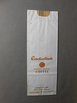 New Orleans estate CONSTANTINE'S Rare COFFEE BAG Mobile restaurant hotel bar