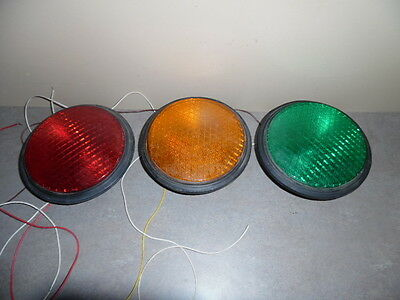 3 Dialight Traffic Signal Lights 8'' LED Red, Amber (yellow) ,  Green