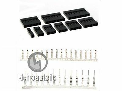 Crimp Stecker/Buchse Set 2,54mm 1P 2P 3P 4P 5P 6P 7P 8P AWG28-22 0,14mm²