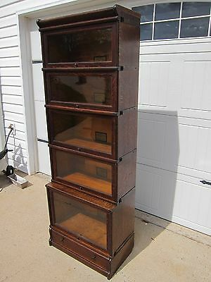 Rare Oak Step back 3/4 Globe Wernicke Bookcase D-299