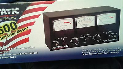 NICE ASTATIC CB 3-METERS Watts SWR Modulation 5KW lighted CB + 10 meter