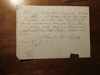c. 1871 Holmes Hole Marthas Vineyard signed by Charles Rogers  Templar sinking