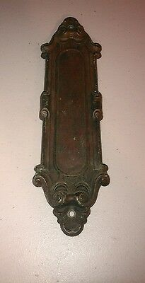 Antique vtg Yale and Town stamped brass door push plate hardware