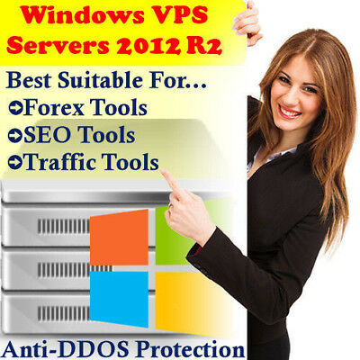 Windows Vps Virtual Server |4GB|40GB Hdd|2Vcpu|Unmetered|Forex|SeoTools|OK