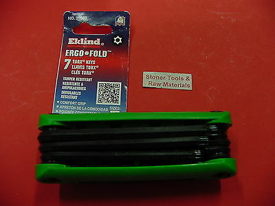 New Eklind 7 Pc Torx Key Tamper Resistant Star Wrench Set 25570 Made in USA