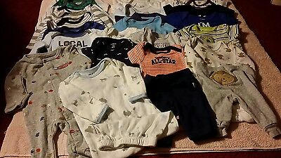Huge 26 piece  lot of Baby Boy new born clothes