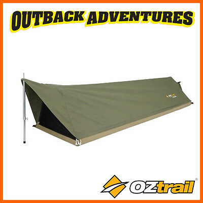 Oztrail Cooson Single Traditional A-Frame Canvas Swag