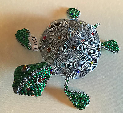 Hand Beaded Turtle  From South Africa     New