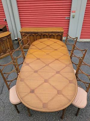 Mid Century TOMLINSON PAVANE Dining Table w 6 Chairs ~ HOLLYWOOD REGENCY