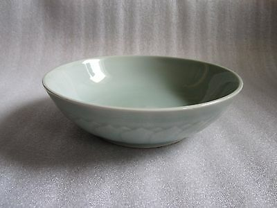Gorgeous Vintage Chinese Celadon Pale Green Glazed Large Bowl