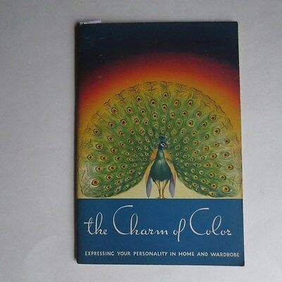 Original 1936 Charm Of Color Putnam Dyes Booklet Peacock Cover