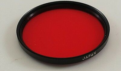 Vivitar 55mm  No. 25 (A) Red Camera Lens Filter, made in Japan