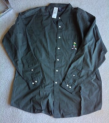 Marvin The Martian 100% Cotton Shirt Vintage New With Tags