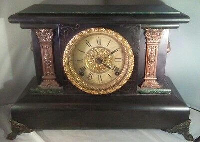 Antique Seth Thomas Adamantine Mantle Clock Egyptian Revival for repair