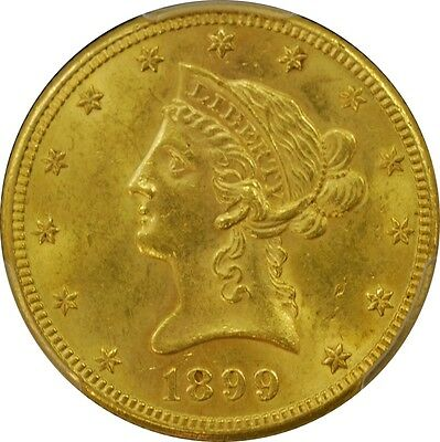 1899 S PCGS MS62 US $10 Liberty Head Gold Coin