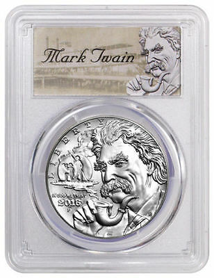 2016 P Mark Twain Silver Dollar Commemorative PCGS PR70 Deep Cameo First Strike