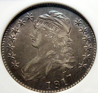 1817 Capped Bust Half, ANACS XF-45, O-110a Exceptional Coin !