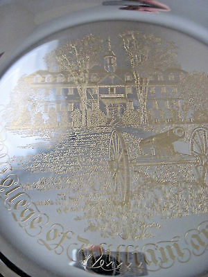 1973 College of William & Mary Alumni 24KT Gold On Solid Sterling Silver Plate