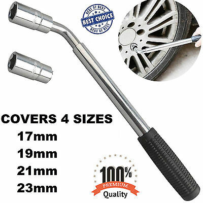 4 Way Universal Wheel Nut Brace Car Vehicle Wrench Tool Spanner 17 &19& 21& 23mm