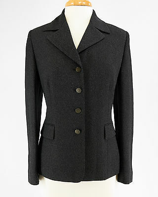 LE SUIT Black Fully Lined Blazer Jacket Business Career Interview Size 10