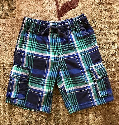 Gymboree Boys Multicolored Plaid Shorts, Size 6