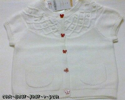 NWT Gymboree Size 4T BUTTERFLY GIRL Butterfly Button Sweater Cardigan ~ Sweet!